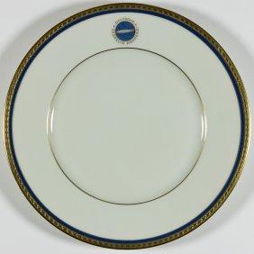 German Zeppelin Dessert Plate