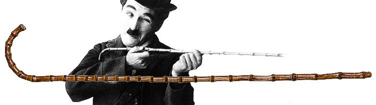 CHARLIE CHAPLIN'S SCREEN-USED BAMBOO CANE, PRESENTED TO
