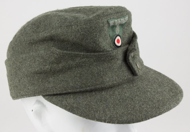 GERMAN NCO/ENLISTED MAN'S M43 FIELD CAP - 2