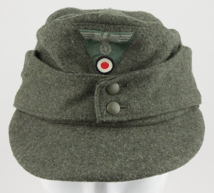 GERMAN NCO/ENLISTED MAN'S M43 FIELD CAP - 3