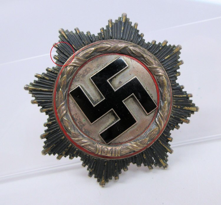GERMAN CROSS IN SILVER