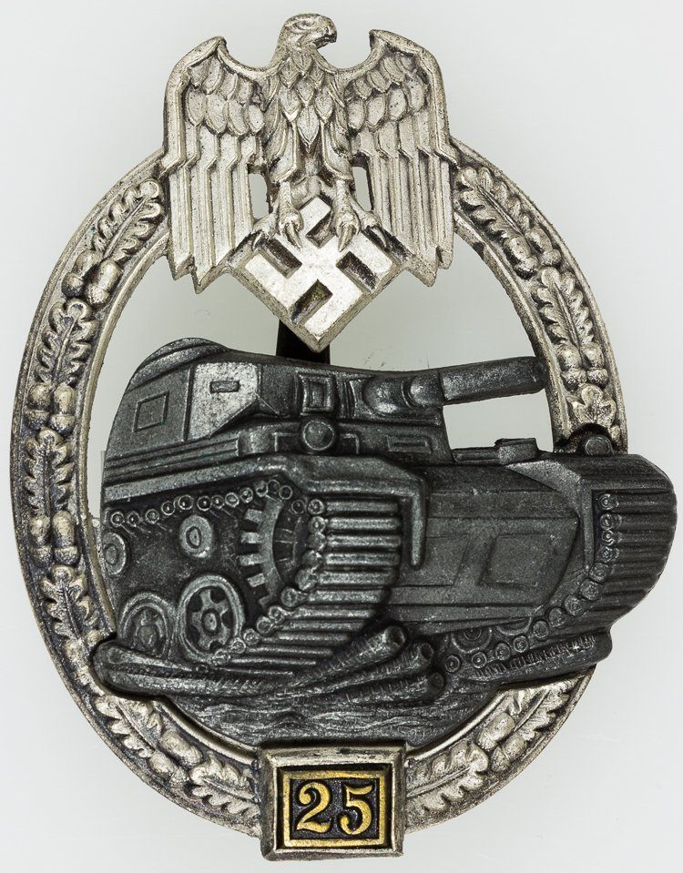 PANZER ASSAULT BADGE - 25 ENGAGEMENTS