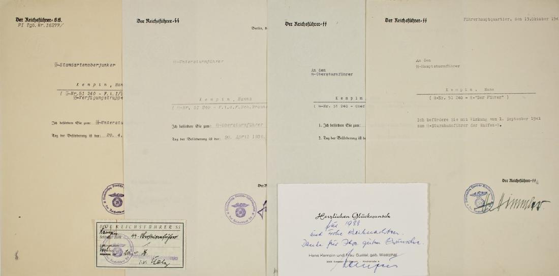 HEINRICH HIMMLER DOCUMENT GROUPING OF HANS KEMPIN