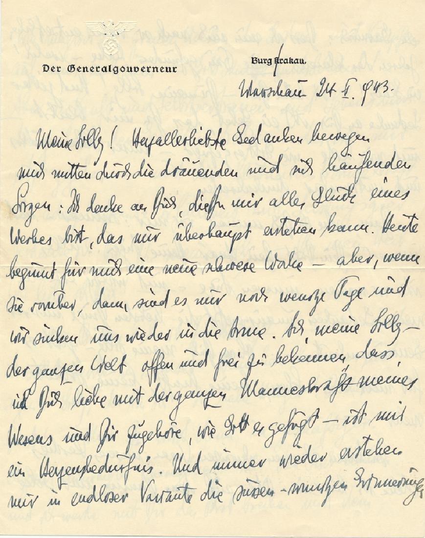 HANS FRANK WRITES TO HIS MISTRESS