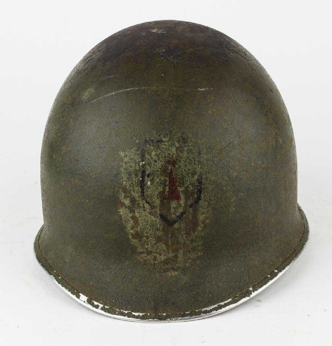 M1 HELMET WITH 1ST INFANTRY DIVISION INSIGNIA