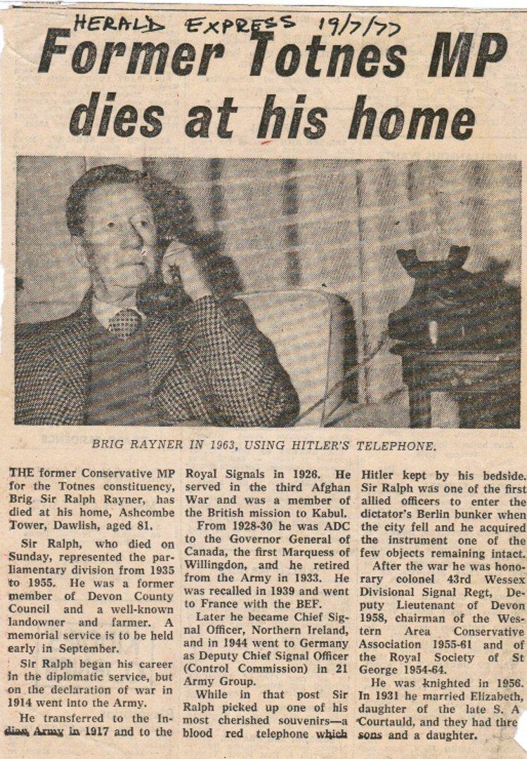 ADOLF HITLER'S PERSONAL PRESENTATION TELEPHONE, - 8