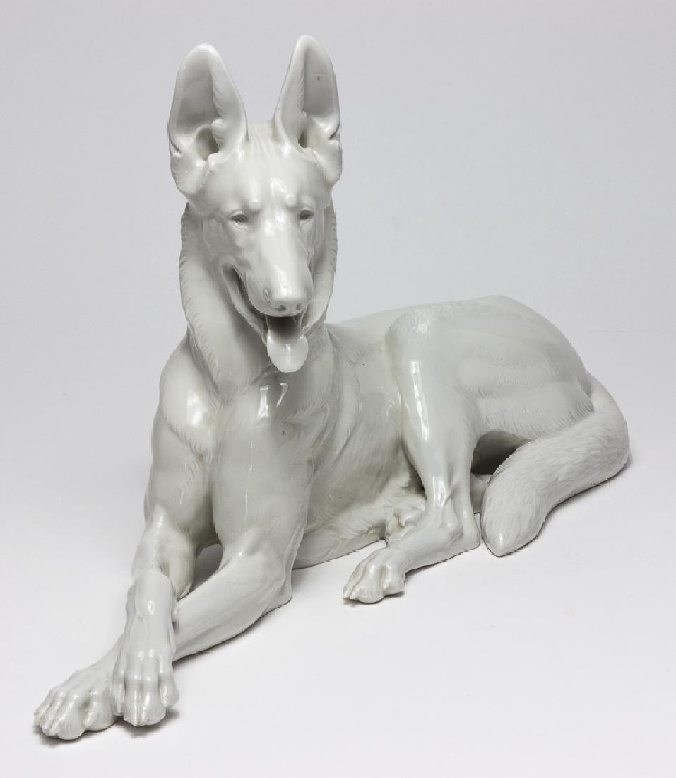 ADOLF HITLER'S ALLACH PORCELAIN ALSATIAN, TAKEN FROM - 2
