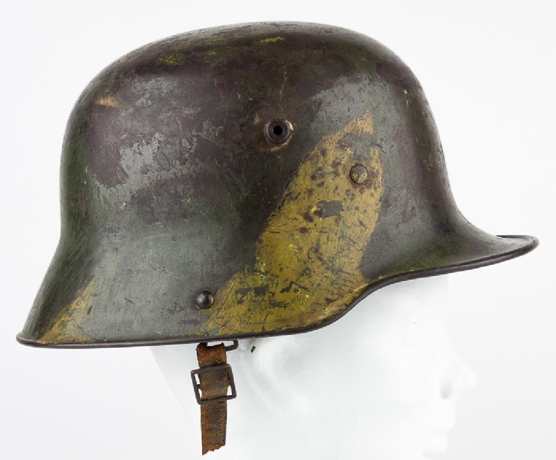 M1916/1917 STAHLHELM WITH CAMOUFLAGE PAINT SCHEME