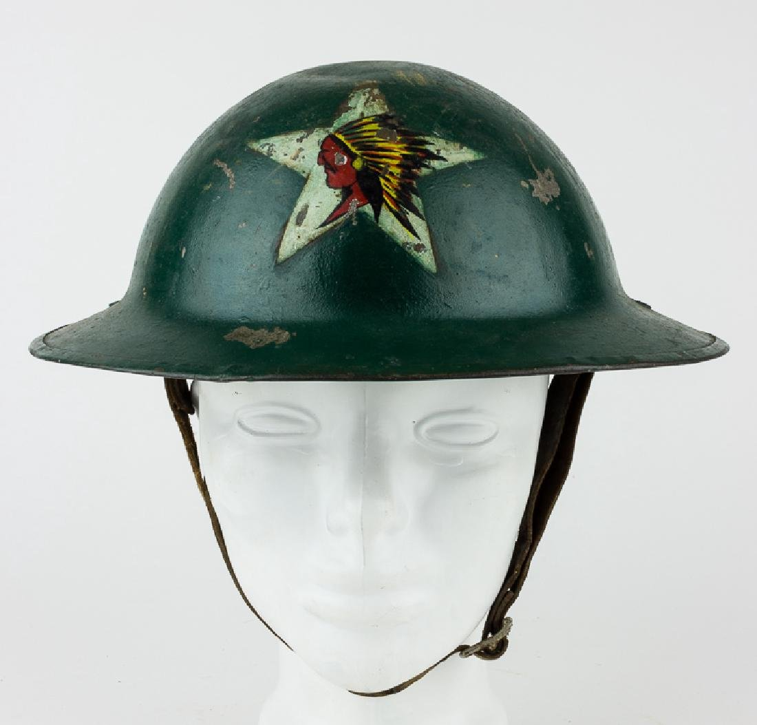 M1917 HELMET WITH 2ND INFANTRY DIVISION INSIGNIA