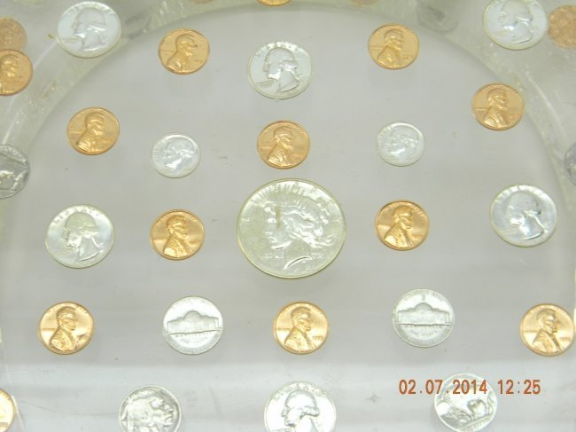 Lucite Toilet Seat With Coins