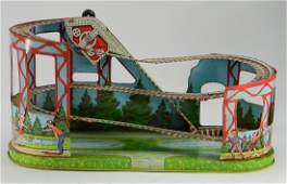 Vintage J Chein Roller Coaster Toy  Car
