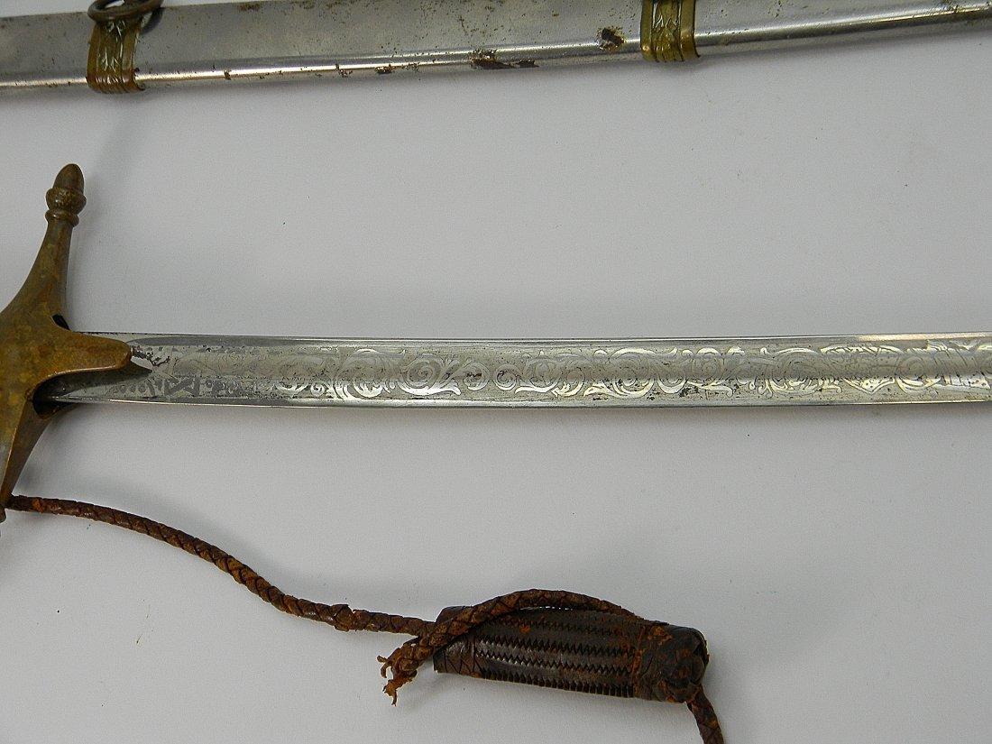 19th C. US Marine Mameluke Sword M1875 Carr Mears - 4
