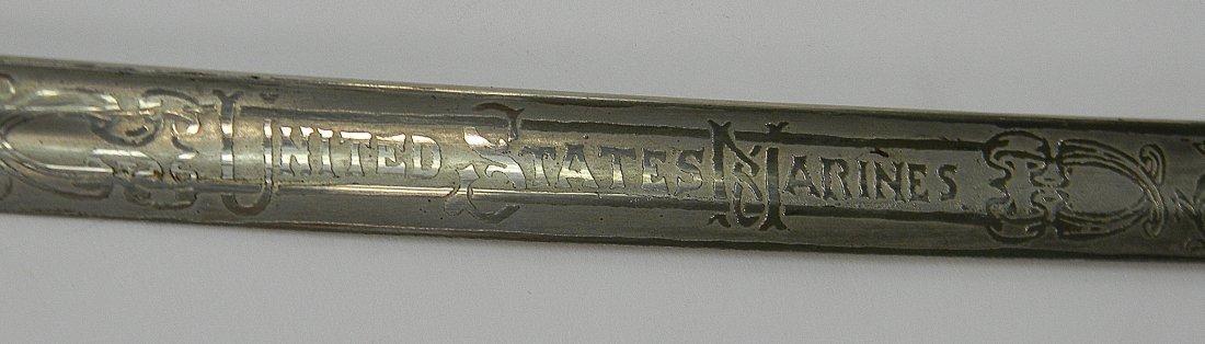 19th C. US Marine Mameluke Sword M1875 Carr Mears - 8