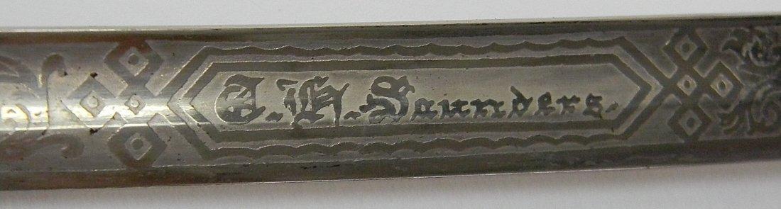 19th C. US Marine Mameluke Sword M1875 Carr Mears - 9