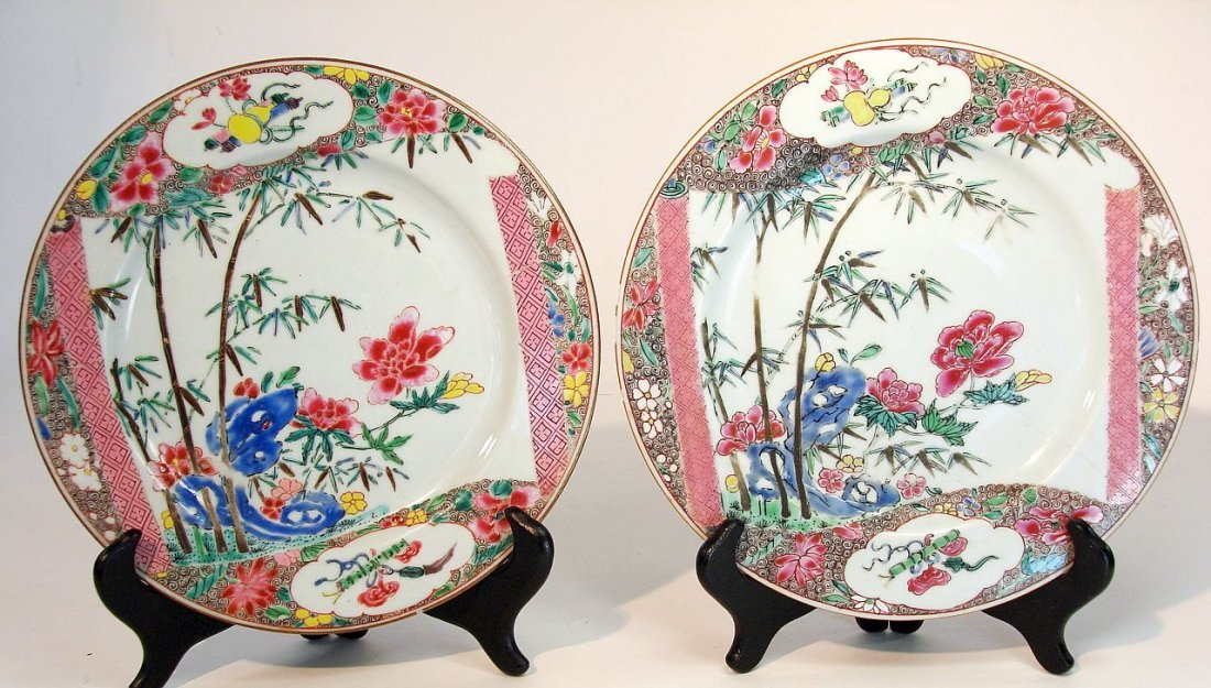 Antique Chinese Famille Rose Export Plates