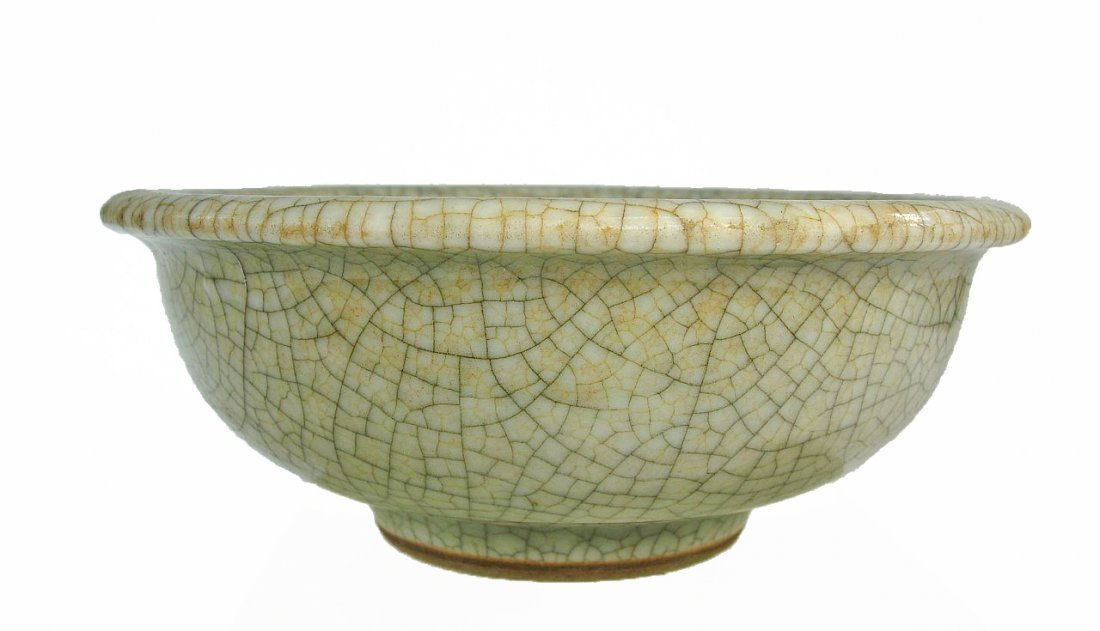 Chinese Green Ge Yao Glazed Bowl Celadon Color