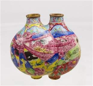 Peking Enamel Double Snuff Bottle Qianlong Reign Mark
