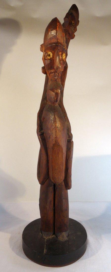 Very Rare Easter Island Moai Kavakava Double Figure - 3