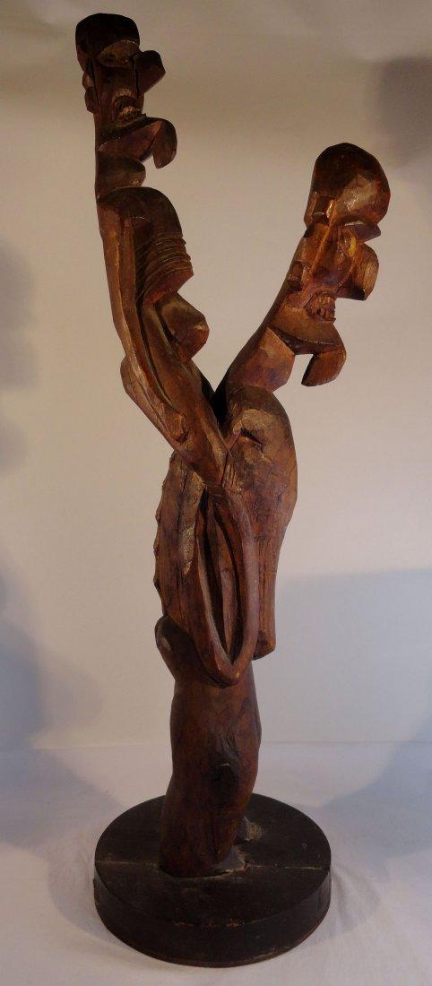 Very Rare Easter Island Moai Kavakava Double Figure - 4