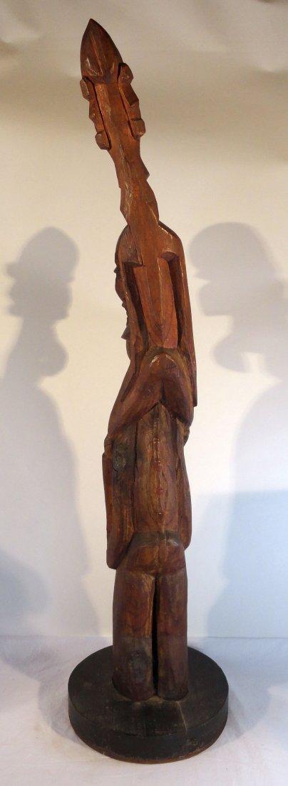 Very Rare Easter Island Moai Kavakava Double Figure - 5