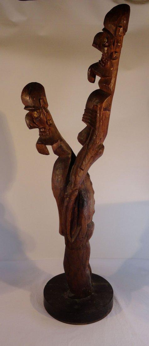 Very Rare Easter Island Moai Kavakava Double Figure - 6