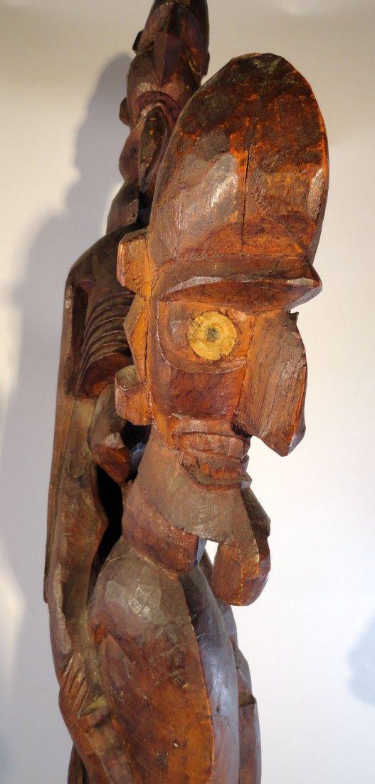 Very Rare Easter Island Moai Kavakava Double Figure - 7
