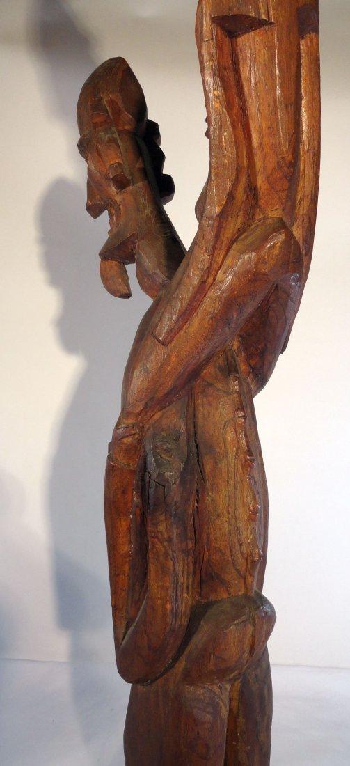 Very Rare Easter Island Moai Kavakava Double Figure - 8