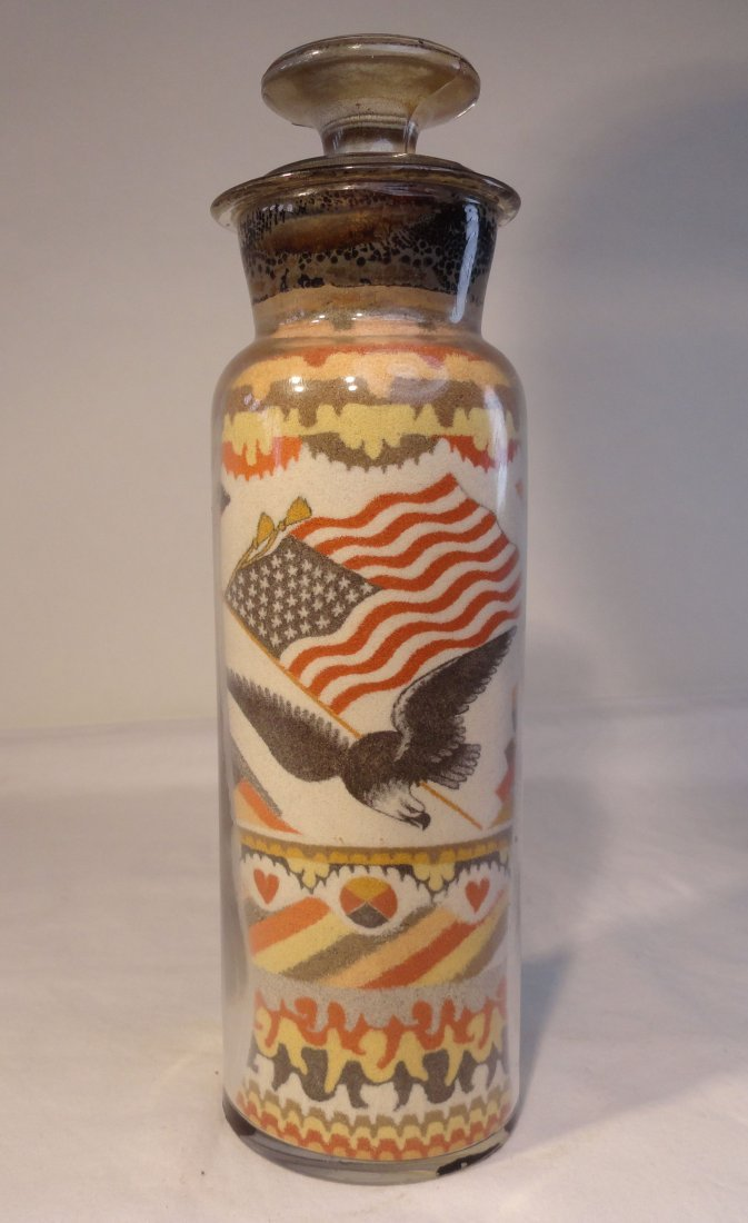 """Andrew Clemens Sand Art Bottle Rare 9"""" Pint Bottle"""