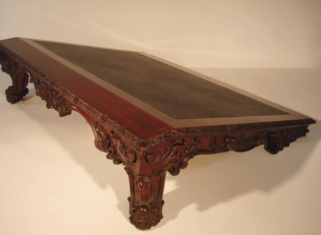 Large Chippendale Mahogany Writing Slope Bookstand