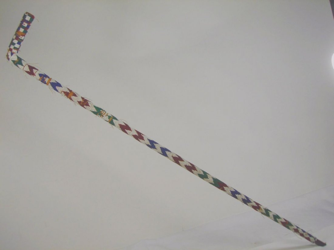 American Indian Beaded Walking Stick  Cane 19th Century - 2