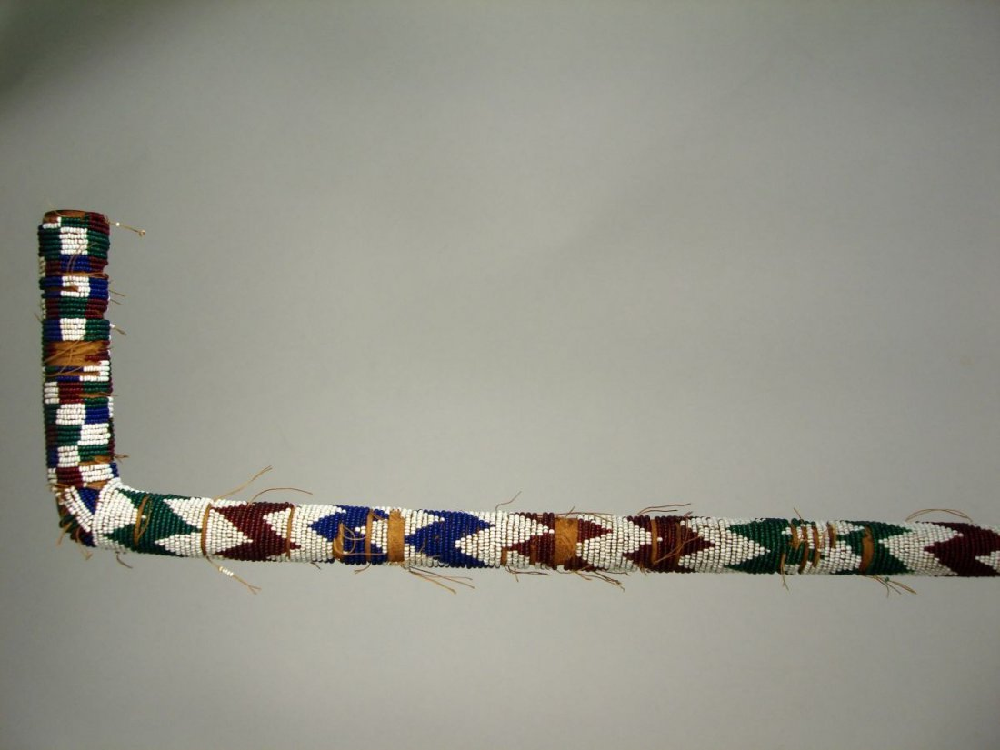 American Indian Beaded Walking Stick  Cane 19th Century - 3