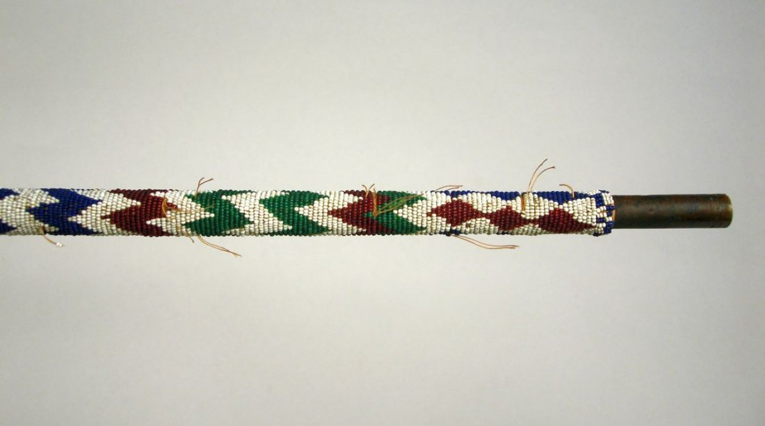 American Indian Beaded Walking Stick  Cane 19th Century - 6