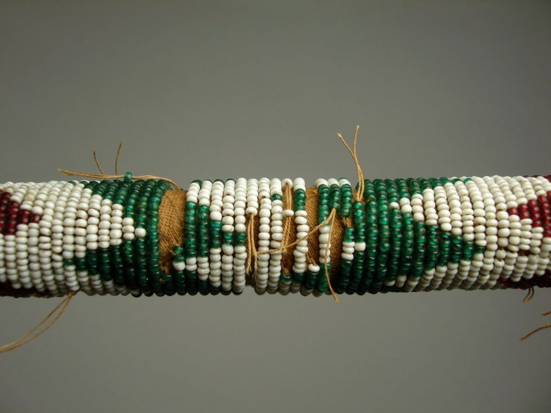 American Indian Beaded Walking Stick  Cane 19th Century - 9