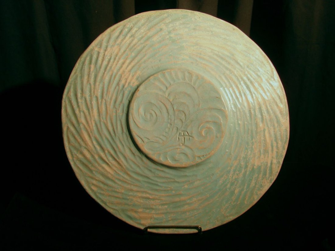 Very Large Henry James Albright Art Pottery Charger - 2