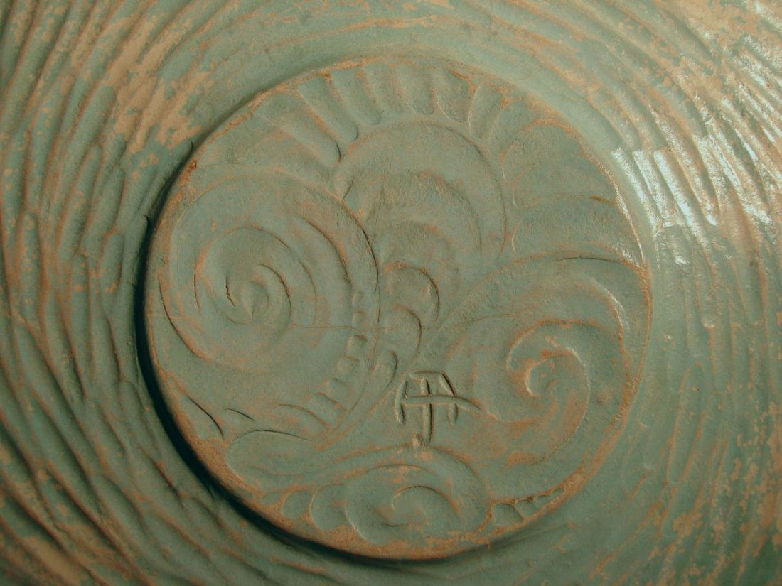 Very Large Henry James Albright Art Pottery Charger - 3