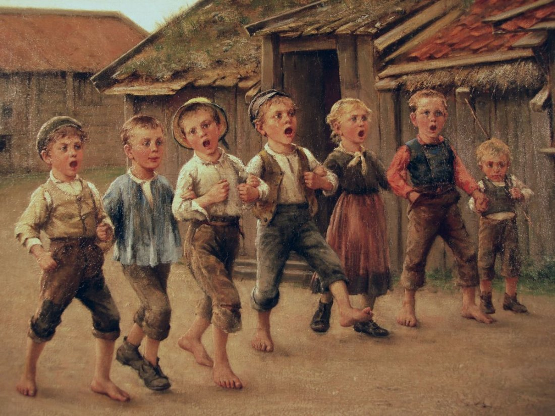 Large O/ C  Swedish Village Rascal Choir Otto Hagborg
