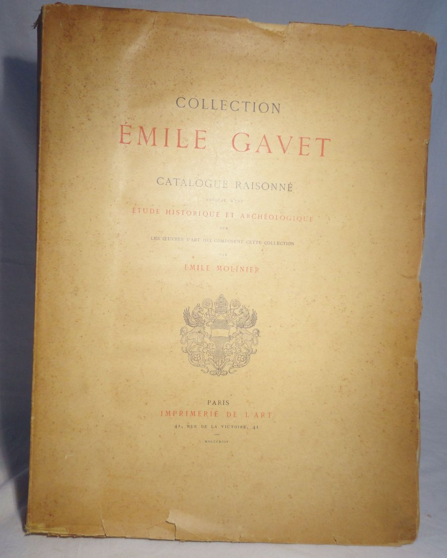 1894 Collection Emile Gavet Catalogue Raisonne