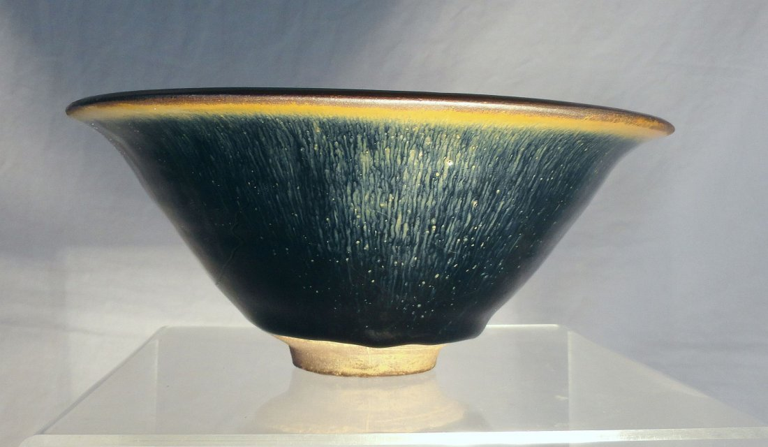 Large Song Tenmoku Hare's Fur Glaze Jian Ware Bowl