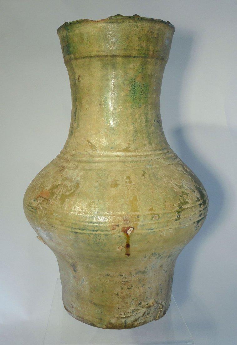 Chinese Han Dynasty Hu Form Ritual Iridescent Green