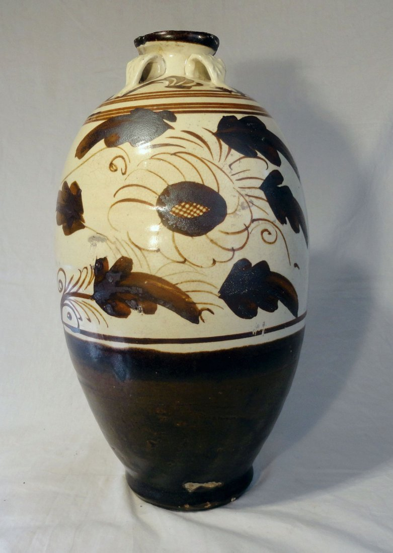 Chinese Song Yuan Dynasty Cizhou Ware Jar Vase Meiping