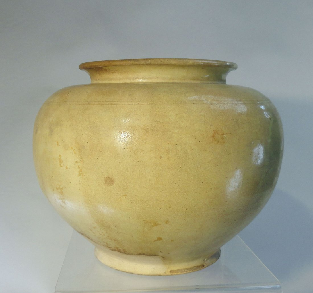 Rare and Large Tang Xing Ovoid Jar White Glaze