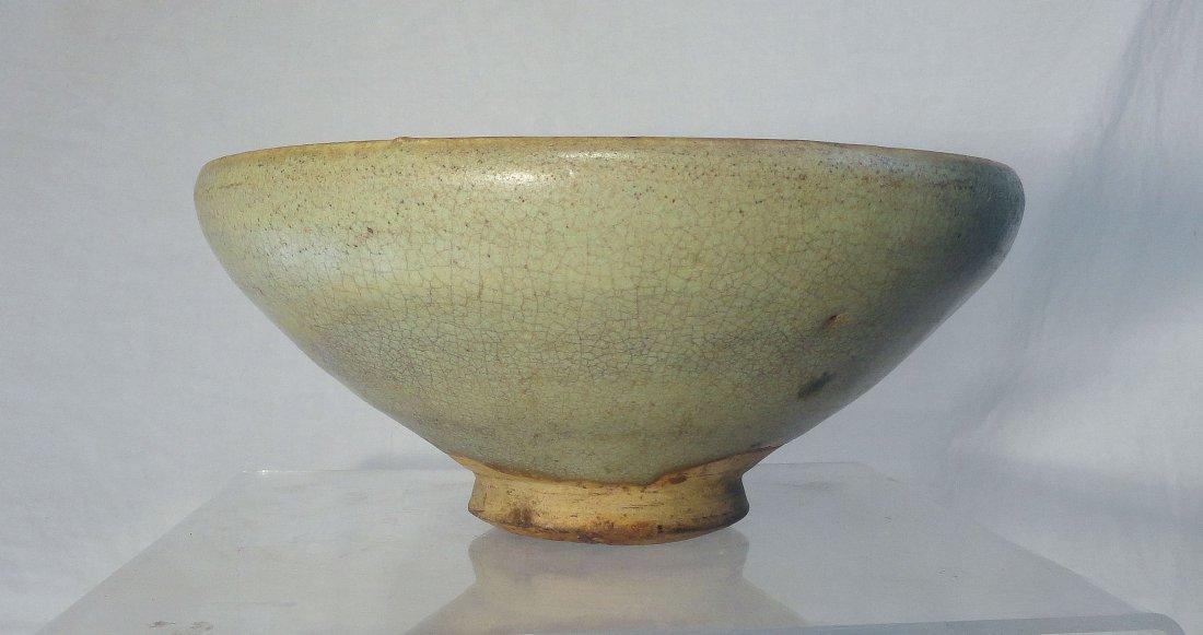 Chinese Moon White Jun Yao Bowl Song Yuan Dynasty