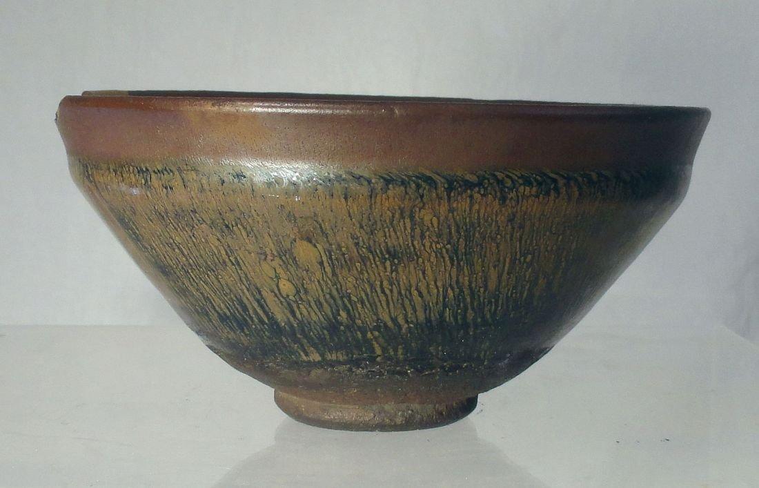 Fine Song Dynasty Hare's Fur Glaze Bowl Jian Ware