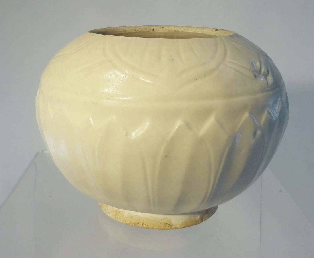 Unusual Ding Carved Chinese Song Dynasty Lotus Bowl