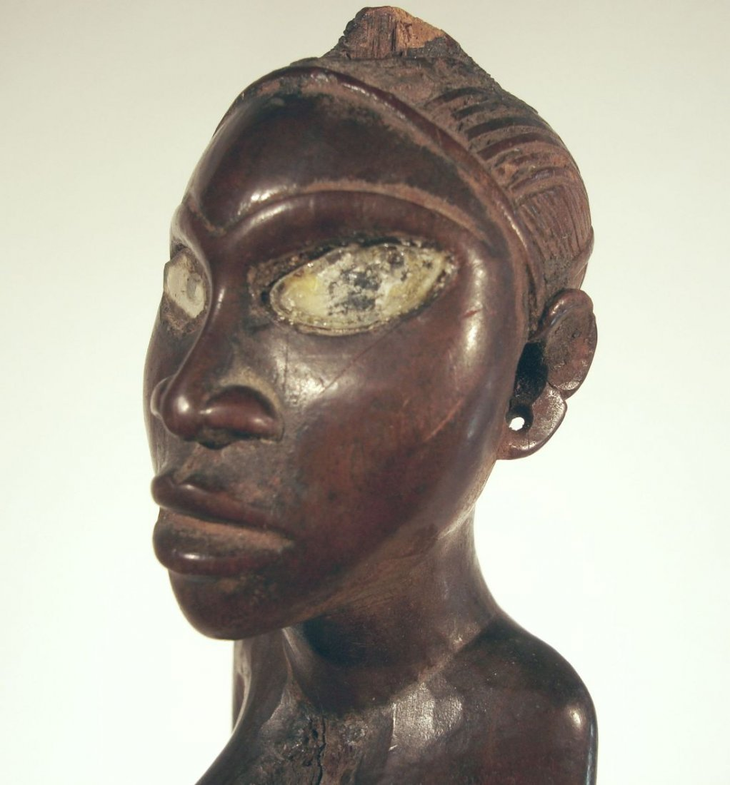 Finely Carved Yombe African Figure Congo Fetish Figure