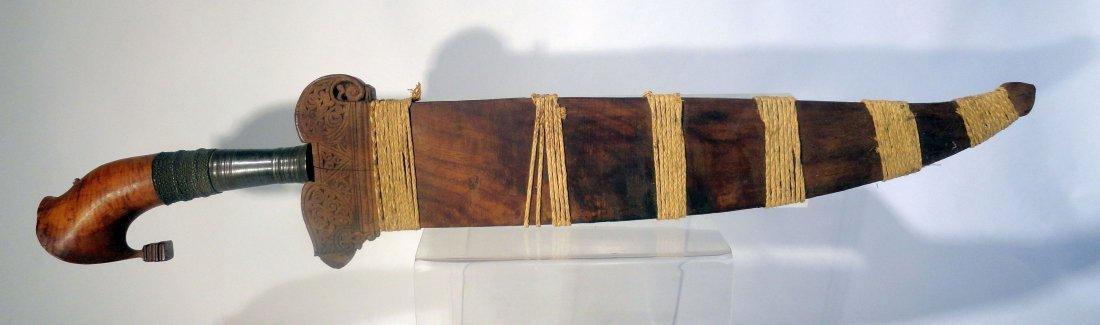 Antique Philippine Moro Barong Sword Kakatua Hilt