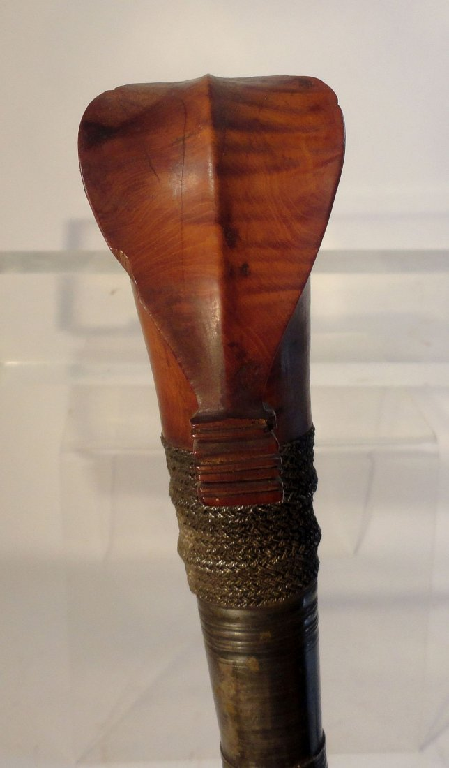 Antique Philippine Moro Barong Sword Kakatua Hilt - 7
