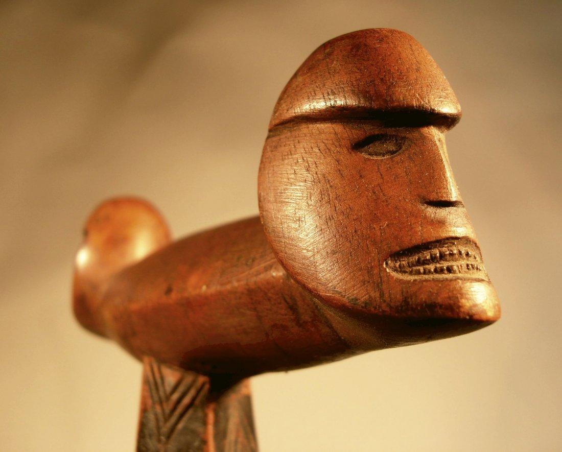 Fine Rare Solomon Island Figural Paddle Polynesia
