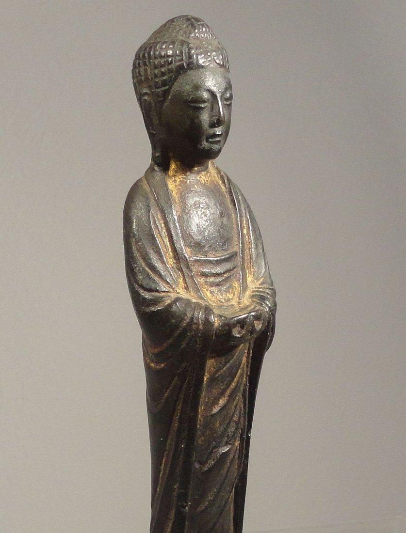 Chinese Liao Dynasty Gilt Bronze Standing Buddha