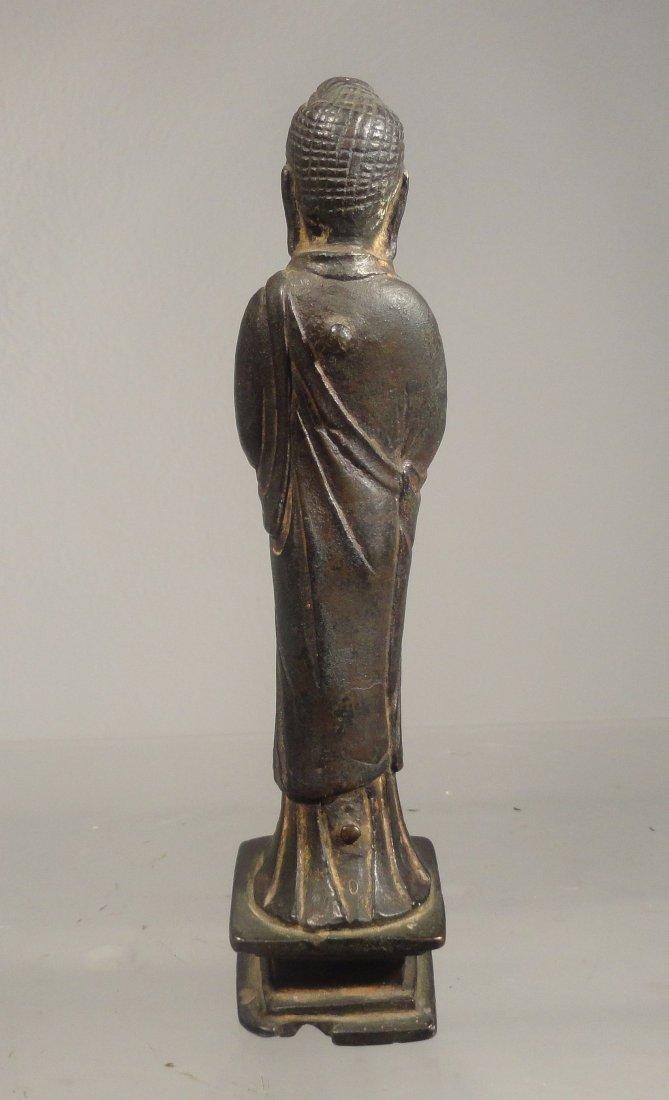 Chinese Liao Dynasty Gilt Bronze Standing Buddha - 4